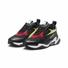 PUMA Thunder Spectra Mens Black Leather & Mesh Low Top SNEAKERS Shoes 13
