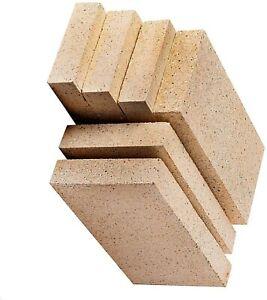 "Vermiculite Villager Stove Fire Bricks 4.5"" x 9"" Multi Fuel Woodburner 8 Bricks"