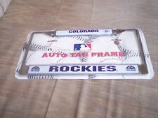 New---MLB---Colorado Rockies---Licensed Team Memorabilia---License Plate Frame