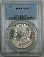 1890 Morgan Silver Dollar Coin, PCGS MS-62, High End Coin