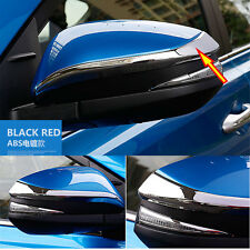 For Toyota RAV4 2013-2017 Chrome Door Side Wing Mirror Trim Cover ABS Strip 2PCS