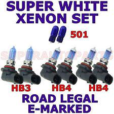 TOYOTA AVENSIS MPV 2001-03  SET HB3  HB4  HB4 501 XENON SUPER WHITE  LIGHT BULBS