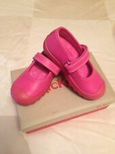 Fille'S Rose KICKERS Plunk Barre Sangle Chaussures Taille UK 8 (25)