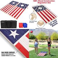 GoSports Flag Series Wood Cornhole Sets – Choose between American Flag and State