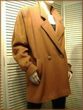 """HAVOC ~ Textured Leather & Wool Blend Coat Jacket ~ 5/6 ~ Tapered cut 48"""" bust"""