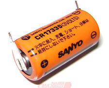 2Pcs New SANYO CR17335 3V PLC Battery  W/tabs For timer W/2P Made in 2011 US