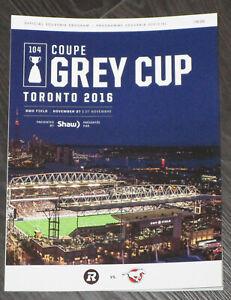 2016 104th Grey Cup CFL Game Program Ottawa Redblacks vs Calgary Stampeders