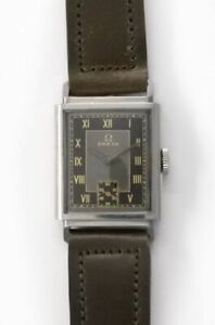 OMEGA Small Second Rectangular Case Manual Vintage Watch 1939's Overhauled