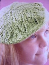 Knitting Pattern For  Pretty D.K. Lacy Beret - 2 Sizes -9 & Diameter