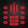 KITT COCKPIT Michael Knight Hasselhoff Rider Rot Vinyl Decal Sticker Aufkleber
