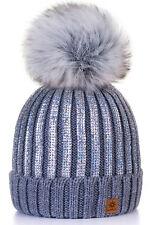 Unisex Kids Children Knitted Beanie Hat Hats Cap Winter Worm Girls Boys Bubble B