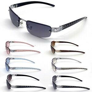 Womens Mens Eyewear Oval Sunglasses  Fashion Rimless Small Designer Shades New