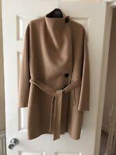 Zara Women Coat With Wrap Collar, Camel , Size L, Bnwot