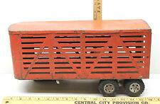 1950's Tonka Toys Semi Livestock Farm Trailer Vintage Pressed Steel Toy Truck