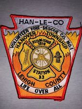 Hanover Township Pennsylvania Fire Department Patch