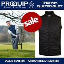 ProQuip Men's Thermal Excel Quilted Golf Gilet Black - NEW! 2020