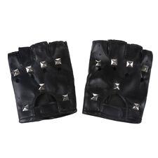 Women's Fingerless Rivet Black Glove S4Q1