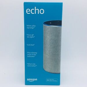 Amazon Echo (2nd Generation) Smart Speaker with Alexa Heather Gray Fabric SEALED