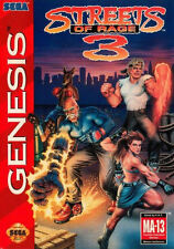 Incorniciato stampa locale Genesis Game-Strade Di Rage 3 (GIOCO ARCADE CLASSIC opera d'arte)