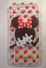Minnie Mouse manchada claro caso de gel de silicona para iPhone 7 Navidad, medias Plus.