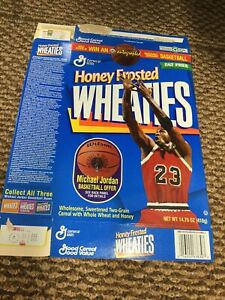 1998 Michael Jordan Honey Frosted Wheaties Box 14.75 oz Flat