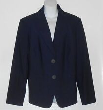 Jones New York Platinum Woman Easy Care Suit Jacket Blazer Midnight Sky 24W