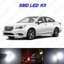 8x White LED Interior Bulbs + License Plate Lights for 2010-2016 Subaru Legacy