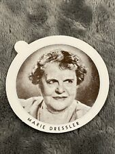 Vintage Dixie Cup Ice Cream Lid With Movie Stars ~ Marie Dressler