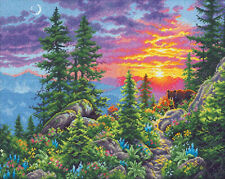 Cross Stitch Kit ~ Dimensions Gold Collection Sunset Mountain Trail #70-35383