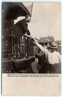 VTG REAL PHOTO POSTCARD RPPC Train Campaign Roosevelt President 1902 Town A9