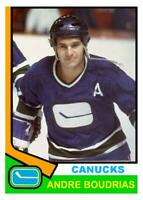 Custom made OPC 1974-75 Vancouver Canucks Andre Boudrias Hockey  card