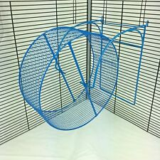 Metal Syrian Hamster Gerbil Degu Rat Close Knit Tread Cage Wheel With Cage Hooks