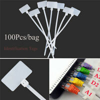 Marker Tool Cable Labels Identification Tags Fiber Wire Organizers Zip Ties