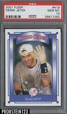 2001 Fleer #419 Derek Jeter New York Yankees PSA 10 GEM MINT