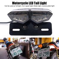 Motorrad Quad LED Rücklicht Blinker Bremslicht Heckleuchte Nummernschild Lampe