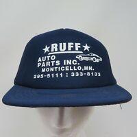 1980's Ruff Auto Parts INC. MONTICELLO, MN Snapback Insulated Trucker Hat - VTG