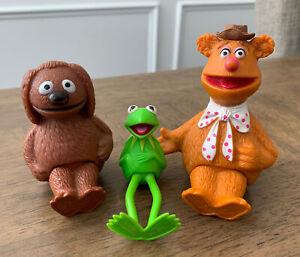 Muppets FOZZIE BEAR Kermit Rolf Toy Figure Henson Associates Inc 1978 Hong Kong