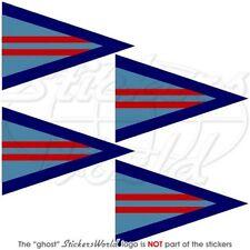 RAF WING COMMANDER Dreieckigen Wimpel, Flagge 50mm Aufkleber, Vinyl Sticker x4