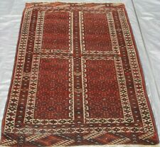 Lovely Tribal Antique Ensi Turkmen Hand-Knotted 100% Wool Oriental Rug  4' x 6'