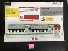 Crabtree loadstar Skeleton fuse-box 10 Way Main Switch, Dual RCD & breakers #I16