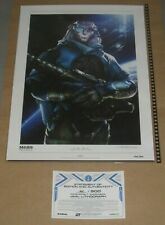 Mass Effect Andromeda Jaal Lithograph Official 3 2 N7 Signed Art Print + COA