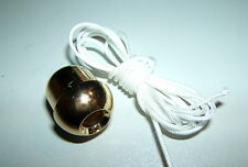 BRASS ACORN STYLE20mm 21g 1.2m CORD PULL LIGHT HEATER FAN SWITCH TOILET BATHROOM