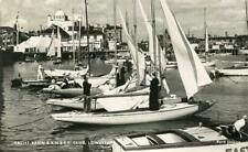 REAL PHOTO POSTCARD YACHT BASIN & RN & SY CLUB, LOWESTOFT, SUFFOLK, FORD JENKINS
