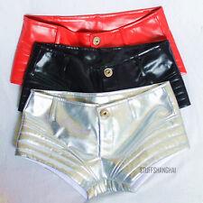 Women/Lady Hot Pants Shorts Pole Dance Faux Leather Hip Hop Booty Clubwear Sexy