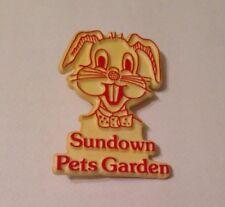 Vintage Bunny/RabbitVintage/Retro Sundown Pets Garden Badge