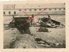 Nr. 29395 Foto Deutsche Wehrmacht Einmarsch Polen zerstörter Panzer 4,5 x 6 cm
