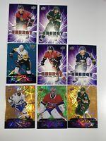 NHL Upper Deck 19 -21 Dazzlers/Energy (8) Card Lot Malkin, Price, Kucherov, More