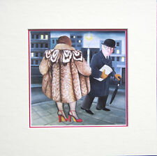 Beryl Cook My Fur Coat. Mounted Print