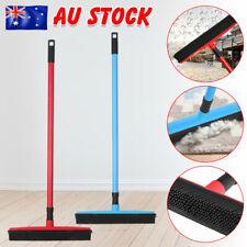 Rubber Broom For Dog Cat Pet Hair Car Windows Handle Sweeper Squeegee Floor
