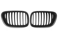 *Pair of Matte Black Front Nose Kidney Grill Grille For 2000-2003 BMW E53 X5